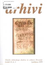 Arhivi, 2009, št. 2<br />Glasilo Arhivskega društva in arhivov Slovenije