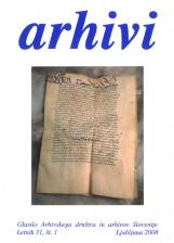 Arhivi, 2008, št. 1<br />Glasilo Arhivskega društva in arhivov Slovenije