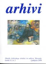Arhivi, 2008, št. 2<br />Glasilo Arhivskega društva in arhivov Slovenije