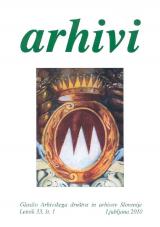 Arhivi, 2010, št. 1<br />Glasilo Arhivskega društva in arhivov Slovenije