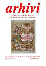 Arhivi, 2011, št. 2<br />Glasilo Arhivskega društva in arhivov Slovenije