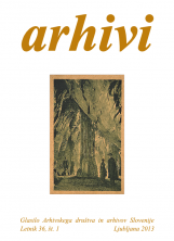 Arhivi, 2013, št. 1<br />Glasilo Arhivskega društva in arhivov Slovenije<br />Arhivi, 2013, no. 1<br />The Gazette of the Archival Association and Archives of Slovenia