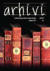 Arhivi, 2014, št. 1<br />Glasilo Arhivskega društva in arhivov Slovenije