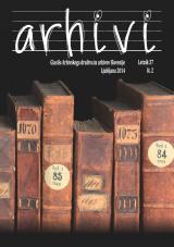 Arhivi, 2014, št. 2<br />Glasilo Arhivskega društva in arhivov Slovenije