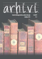 Arhivi, 2016, št. 1<br />Glasilo Arhivskega društva in arhivov Slovenije