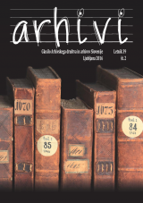 Arhivi, 2016, št. 2<br />Glasilo Arhivskega društva in arhivov Slovenije