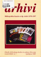 Arhivi, 2000, št. 1<br />Bibliografsko kazalo revije Arhivi 1978-1997<br />Glasilo Arhivskega društva in arhivov Slovenije