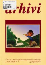 Arhivi, 2000, št. 2<br />Glasilo Arhivskega društva in arhivov Slovenije