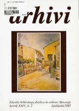 Arhivi, 2001, št. 2<br />Glasilo Arhivskega društva in arhivov Slovenije