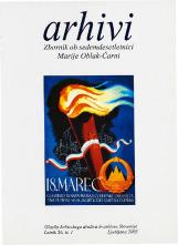Arhivi, 2003, št. 1<br />Zbornik ob sedemdesetletnici Marije Oblak-Čarni<br />Glasilo Arhivskega društva in arhivov Slovenije