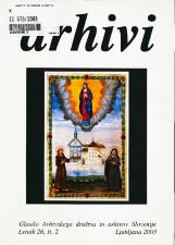 Arhivi, 2003, št. 2<br />Glasilo Arhivskega društva in arhivov Slovenije