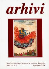 Arhivi, 2004, št. 2<br />Glasilo Arhivskega društva in arhivov Slovenije