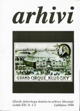 Arhivi, 1998, št. 1-2<br />Glasilo Arhivskega društva in arhivov Slovenije