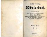 Deutsch-slowenisches Wörterbuch<br />Herausgegeben auf Kosten des hochwürdigsten Hernn Fürstbischofes von Laibach Anton Alois Wolf<br />Theil M-S