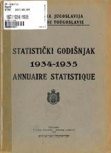 Статистички годишњак 1934-1935<br />Краљевина Југославија, Општа државна статистика<br />Књига 5<br />Annuaire statistique 1934-1935<br />Royaume de Yougoslavie, Statistique générale d'etat<br />Livre VI<br />Statistički godišnjak 1934-1935<br />Kraljevina Jugoslavija, Opšta državna statistika<br />Knjiga VI