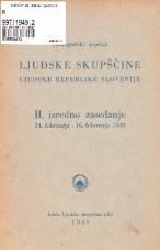 Stenografski zapiski Ljudske skupščine Ljudske republike Slovenije<br />II. izredno zasedanje 14. februarja - 16. februarja 1949