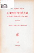 Stenografski zapiski Ljudske skupščine Ljudske republike Slovenije<br />(Tretji sklic)<br />Seje od 1. januarja do 31. marca 1955