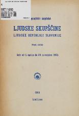 Stenografski zapiski Ljudske skupščine Ljudske republike Slovenije<br />(Tretji sklic)<br />Seje od 1.aprila do 30.novembra 1955