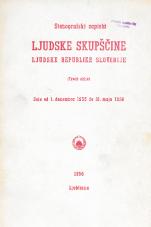 Stenografski zapiski Ljudske skupščine Ljudske republike Slovenije<br />(Tretji sklic)<br />Seje od 1.decembra 1955 do 31.maja 1956