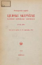 Stenografski zapiski Ljudske skupščine Ljudske republike Slovenije<br />(Tretji sklic)<br />Seje od 1. aprila  do 30. septembra 1957