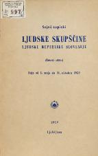 Stenografski zapiski Ljudske skupščine Ljudske republike Slovenije<br />(Četrti sklic)<br />Seje od 1. maja do 31.oktobra 1959