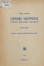 Stenografski zapiski Ljudske skupščine Ljudske republike Slovenije<br />(Četrti sklic)<br />Seje od 1. oktobra 1960 28. februarja 1961