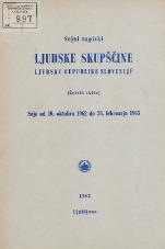 Stenografski zapiski Ljudske skupščine Ljudske republike Slovenije<br />(Četrti sklic)<br />Seje od 10. oktobra 1962 do 28. februarja 1963