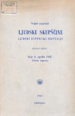 Stenografski zapiski Ljudske skupščine Ljudske republike Slovenije<br />(Četrti sklic)<br />Seje 9. aprila 1963<br />(Ustavna razprava)