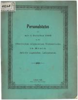 Personalstatus der mit 1. October 1898 an den öffentlichen allgemeinen Volksschulen in Krain definitive angestellten Lehrpersonen