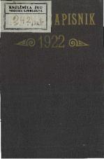 """Ročni zapisnik """"Zveze jugoslovenskih učiteljskih društev"""" Julijske krajine za leto 1922"""