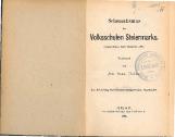 Schematismus der Volksschulen Steiermarks<br />(Abgeschlossen Ende December 1889)
