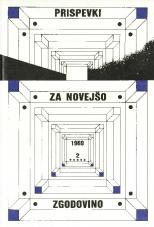 Prispevki za novejšo zgodovino, 1989, št. 1-2