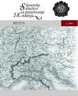 Bilten, 2009, št. 1<br />Slovensko društvo za proučevanje 18. stoletja
