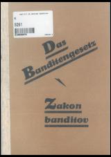 Zakon banditov<br />Das Banditengesetz