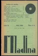 Mladina, 1925, št. 4/5<br />Mladina/Youth, 1925, no. 4/5