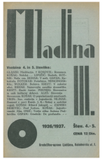 Mladina,  1926, št. 4/5