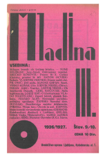 Mladina, 1926, št. 9/10