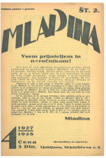 Mladina, 1927, št. 2