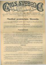Glas svobode 1923 št.  1<br />Glasilo Nezavisne delavske stranke Jugoslavije