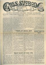 Glas svobode 1923 št. 10<br />Glasilo Nezavisne delavske stranke Jugoslavije