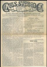 Glas svobode 1923 št. 11<br />Glasilo Nezavisne delavske stranke Jugoslavije