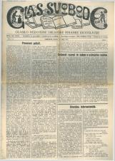 Glas svobode 1923 št. 14<br />Glasilo Nezavisne delavske stranke Jugoslavije