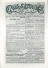 Glas svobode 1923 št. 15<br />Glasilo Nezavisne delavske stranke Jugoslavije