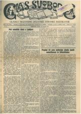 Glas svobode 1923 št. 18<br />Glasilo Nezavisne delavske stranke Jugoslavije
