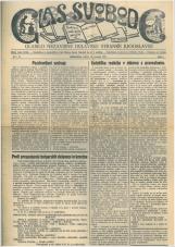Glas svobode 1923 št. 20<br />Glasilo Nezavisne delavske stranke Jugoslavije