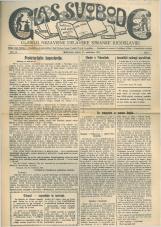 Glas svobode 1923 št. 22<br />Glasilo Nezavisne delavske stranke Jugoslavije