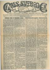 Glas svobode 1923 št. 23<br />Glasilo Nezavisne delavske stranke Jugoslavije