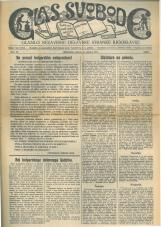 Glas svobode 1923 št. 26<br />Glasilo Nezavisne delavske stranke Jugoslavije