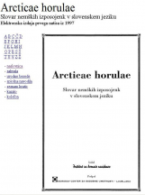 Arcticae horulae<br />Slovar nemških izposojenk v slovenskem jeziku<br />[elektronski vir]