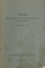 Stalež srednjih in strokovnih šol v Sloveniji januarja 1928